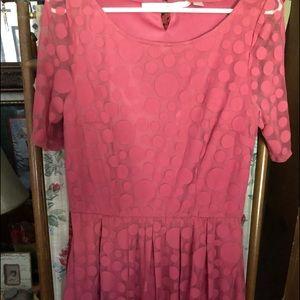 Dress: Dusty Rose With Retro PokeDots